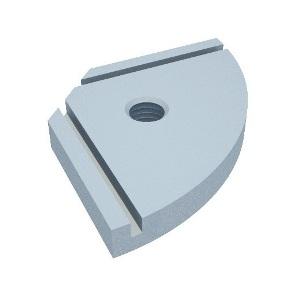 A10 base fixação estrutura perfis alumínio parede sapata rodízio piso