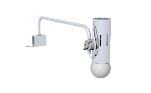 A200 arandela alumínio iluminação stands básicos feiras exposições