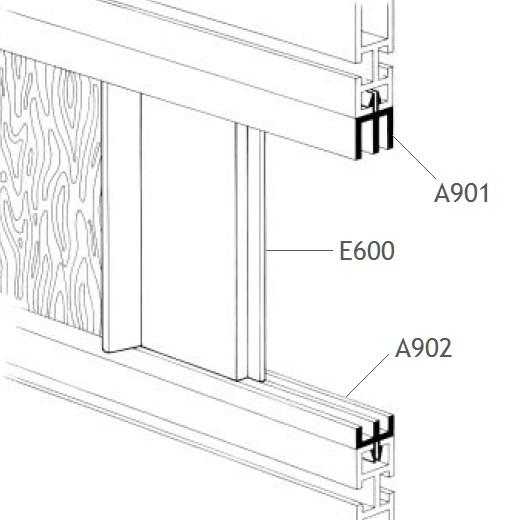perfil puxador porta correr alumínio balcões vitrines stands