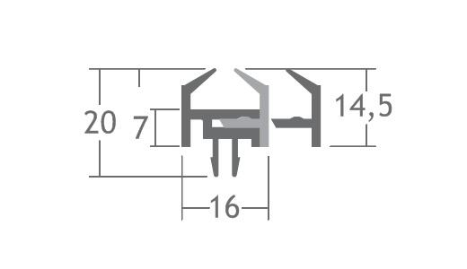 A909 perfil pvc baguete para vidro stands vitrines alumínio