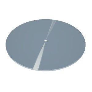 B400 base redonda prata 400mm display alumínio