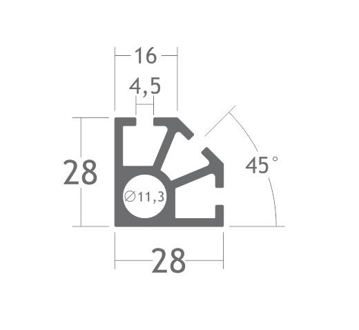 C130 montante alumínio montagem stands estruturas perfil octanorm feiras