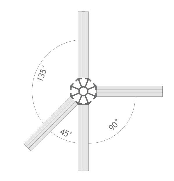 C180 montante alumínio montagem stands estruturas perfil octanorm feiras