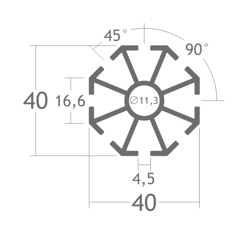 C180L montante alumínio montagem stands estruturas perfil octanorm feiras