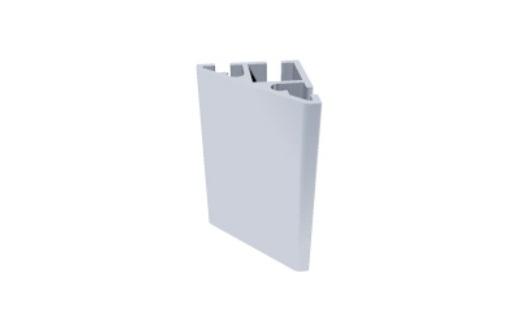 C300 perfil alumínio chanfrado estrutura vitrines displays