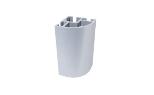 C550 perfil alumínio abaulado arredondado estrutura vitrines displays