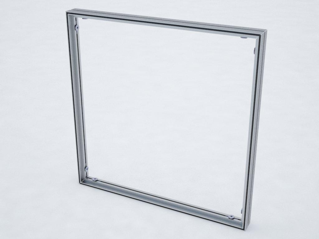 Detalhe do perfil de alumínio H110 para esticar tecido ou lona em painéis e displays