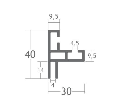H130 perfil alumínio esticar tecido tensionar lona stands divisórias painéis tensionada easyframe smartframe