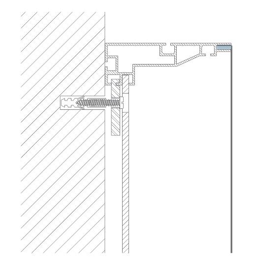 detalhe corte painel backlight de tecido exalumen led dresswall backdrop