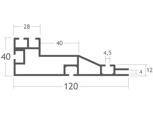 perfil de alumínio backlight tecido tensionar lona painéis easyframe smartframe