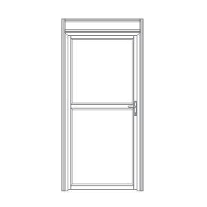 P100 porta de alumíno para stands cabines boxes camarins