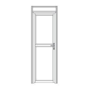 P101 porta de alumíno para stands cabines boxes camarins