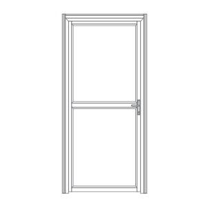 P102 porta de alumíno para stands cabines boxes camarins