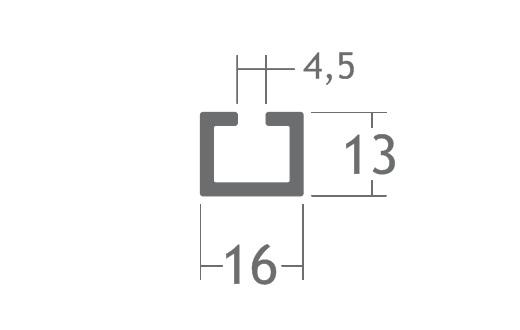 perfil alumínio t-track guia apoio piso vidro