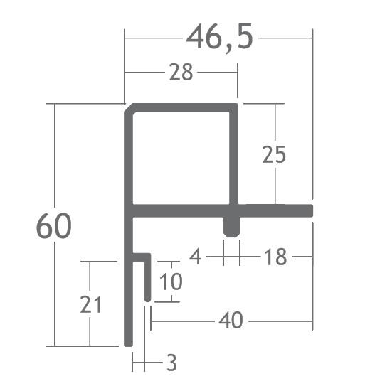 perfil de rodapé alumínio montagem piso elevado vidro stands quiosques