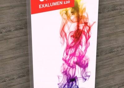 Painel de publicidade de parede em alumínio com imagem em tecido esticado retroiluminado por LEDs