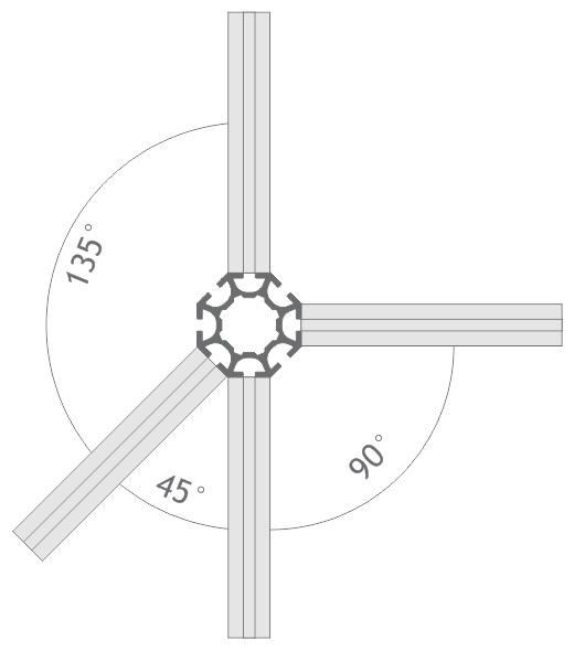 R1000 montante alumínio coluna paredes estruturas montagem stands modulados