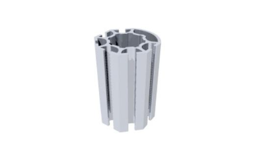 R1600 montante alumínio redondo coluna paredes stands estruturas