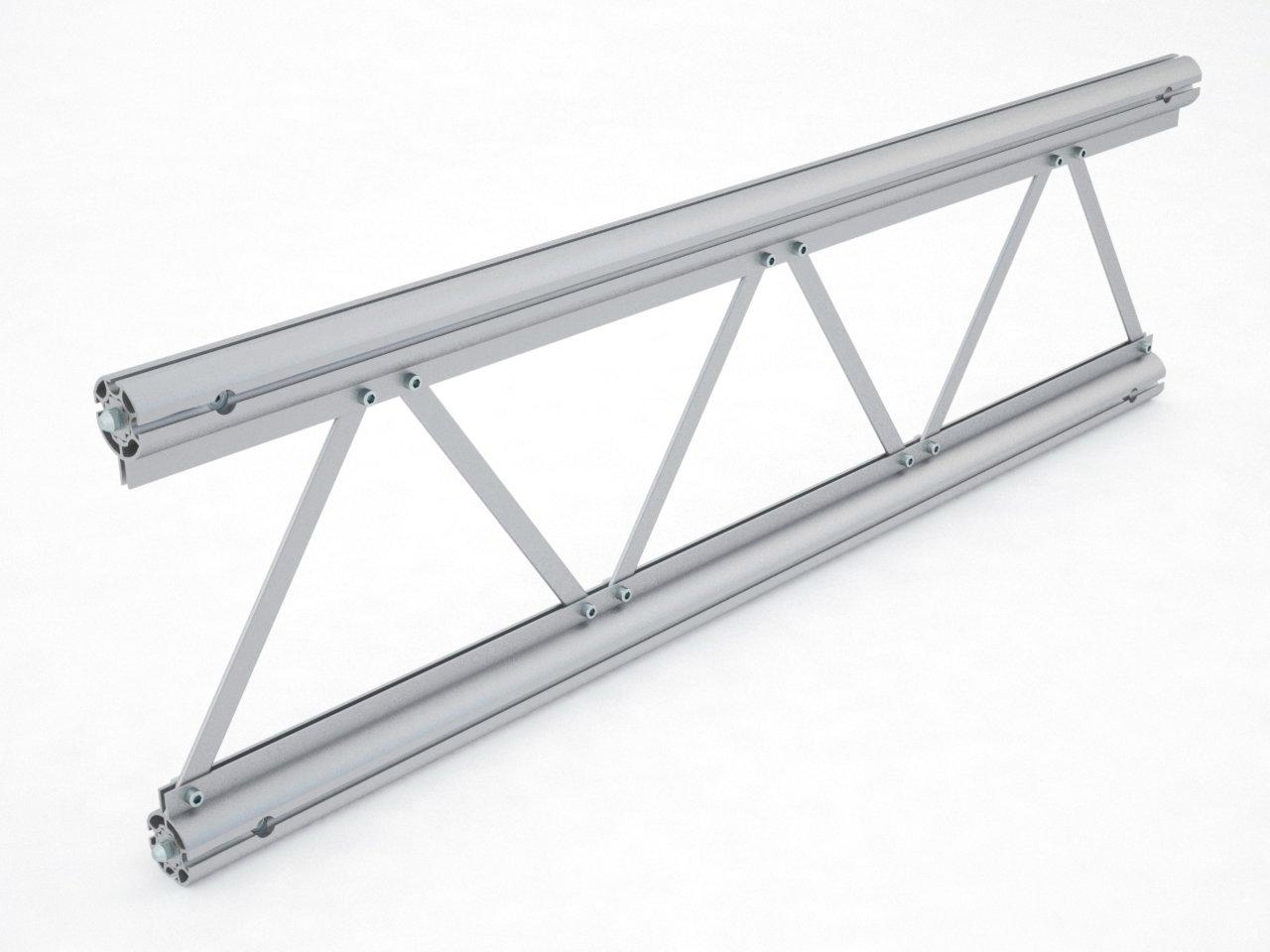Viga truss em alumínio para montagem de estruturas para feiras e eventos