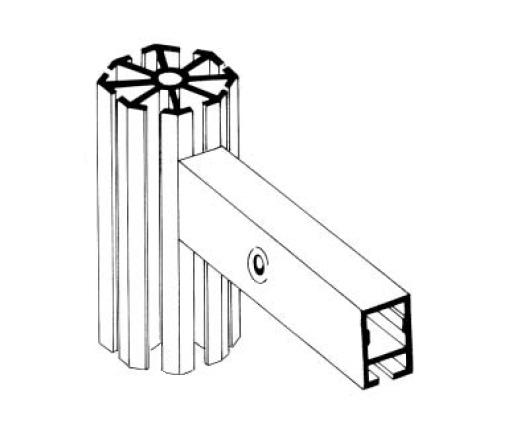 T220 perfil travessa alumínio montagem stands estruturas octanorm