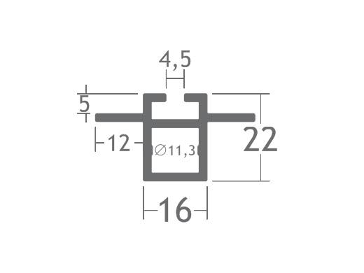 T220B perfil travessa alumínio montagem stands estruturas octanorm