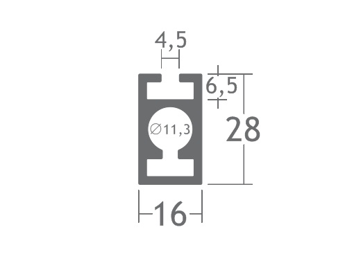T280E perfil travessa alumínio montagem stands estruturas octanorm