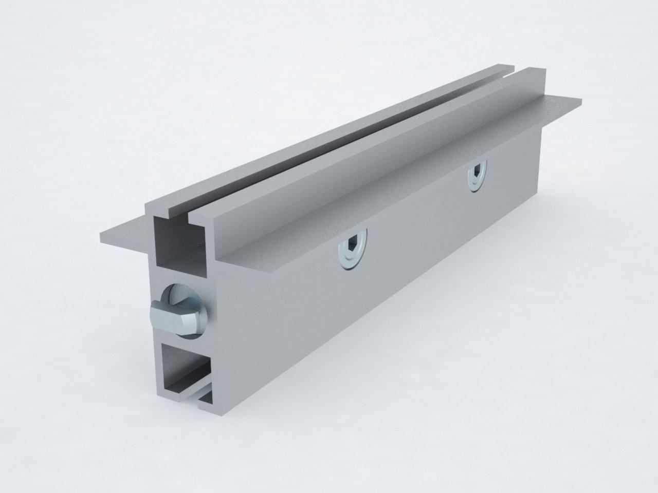 T400B perfil travessa alumínio montagem stands estruturas octanorm