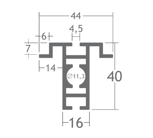 T400D perfil travessa alumínio montagem stands estruturas octanorm