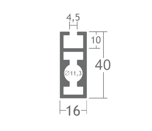T400E perfil travessa alumínio montagem stands estruturas octanorm