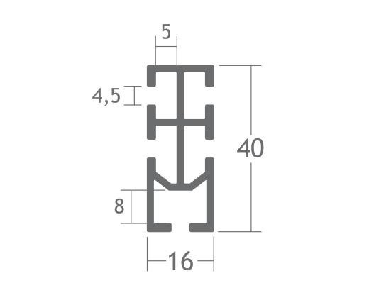 T450 perfil travessa alumínio montagem stands estruturas octanorm