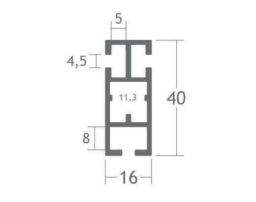T460 perfil travessa alumínio montagem stands estruturas octanorm