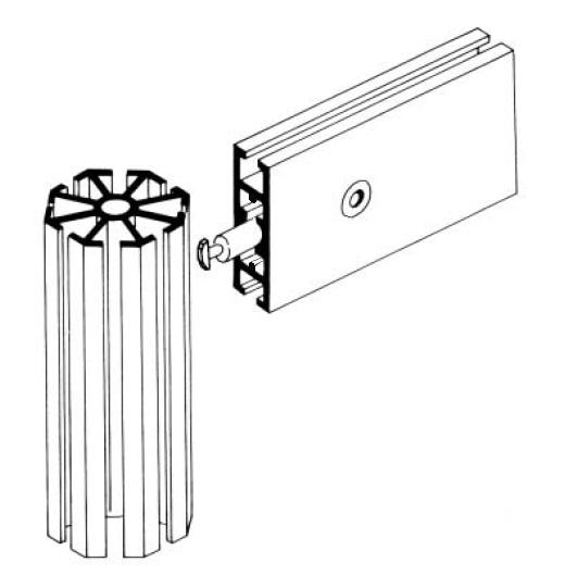 T500 perfil travessa alumínio montagem stands estruturas octanorm 50mm lisa