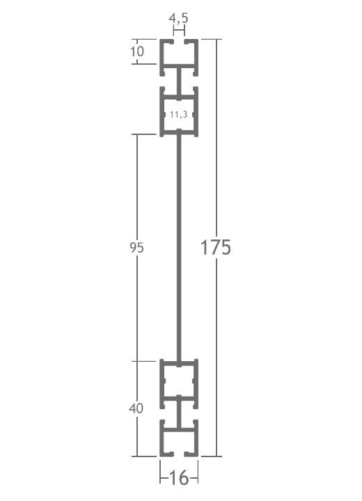 T800L perfil travessa alumínio montagem stands estruturas octanorm Z500 Z560