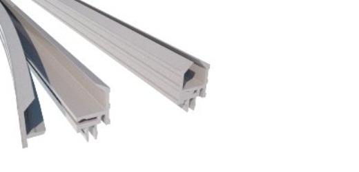 A900 perfil pvc baguete para vidro stands vitrines alumínio