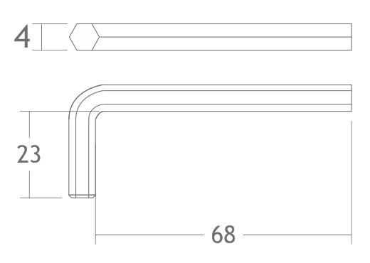A190 chave allen 4mm montagem estrutura stands alumínio