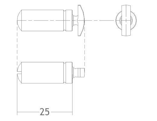 piton pitão pino de suporte prateleira vitrine stand móvel