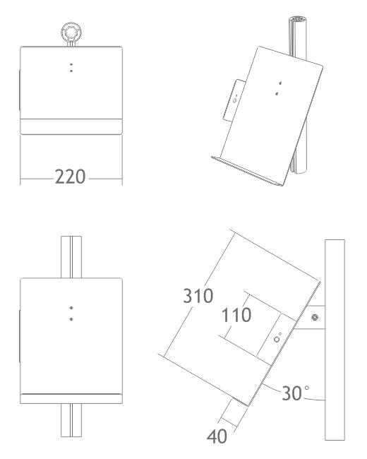 bandeja prata porta folhetos folders estrutura display alumínio