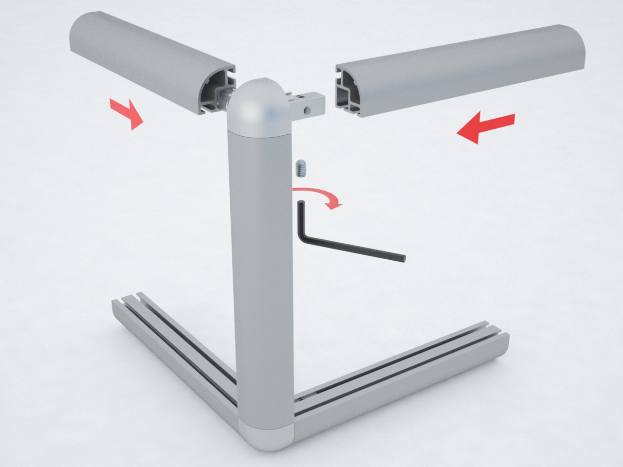 C550 perfil de alum nio abaulado pedrosa sistema de for Perfiles de aluminio para toldos de palilleria