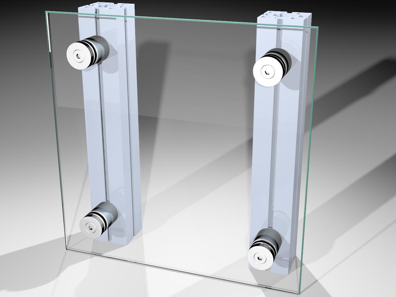 Retentor para fixação de painéis de sinalização em stands em displays montados com perfis de alumínio