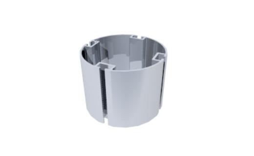 perfil alumínio redondo 80mm tubo montagem estrutura octanorm stands eventos maxima light