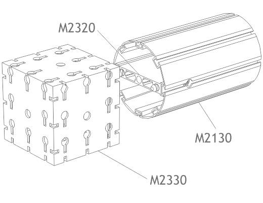 perfil alumínio redondo 120mm tubo montagem estruturas octanorm stands eventos