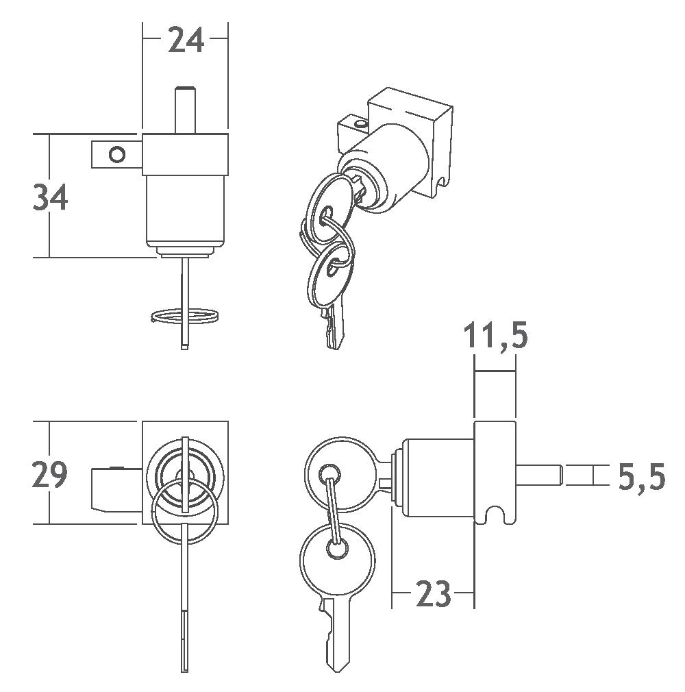 P110 fechadura perfil de alumínio trilho porta correr vidro vitrine