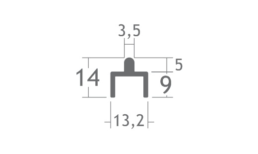 V322 perfil de alumínio trilho porta correr vitrine