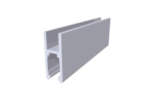 V323 perfil de alumínio trilho porta correr vitrine