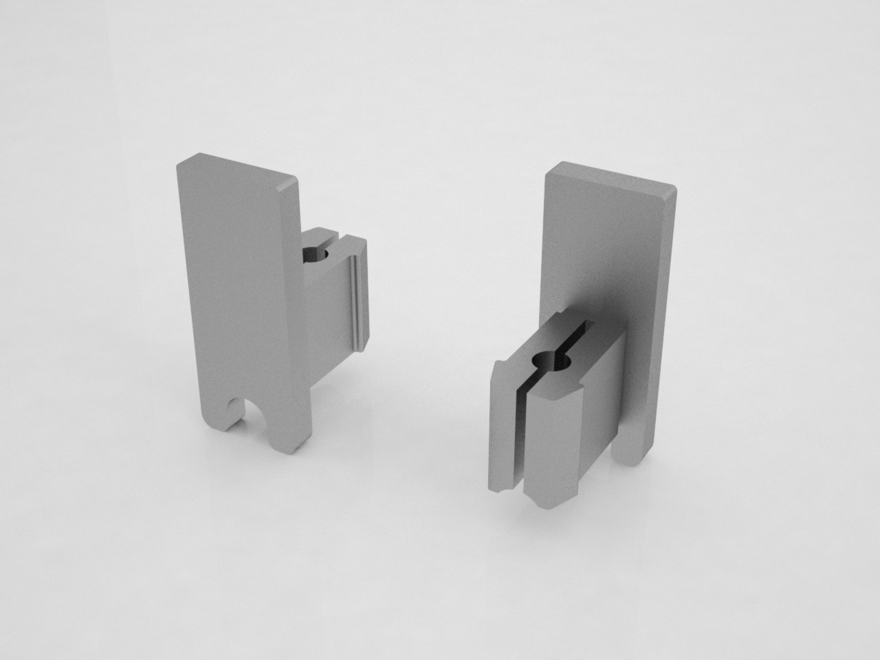 terminal para porta de correr vidro aluminio vitrine móvel