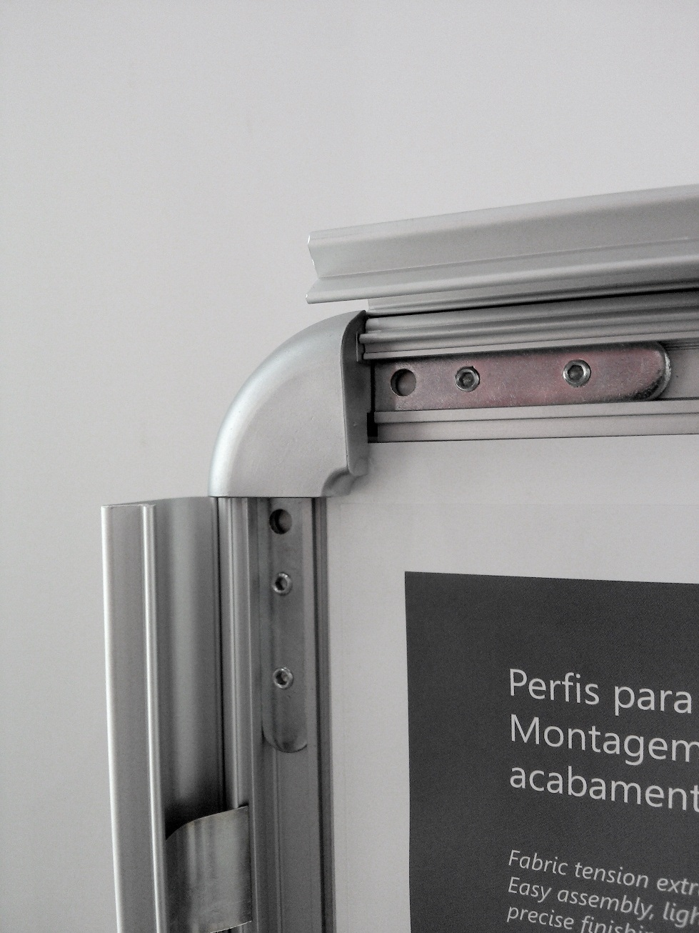 snap frame moldura alumínio click abertura frontal poster