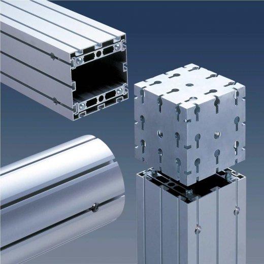 perfil alumínio quadrado stands estruturas cabines eventos