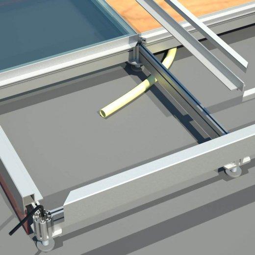 piso elevado vidro montagem stands quiosques showrooms exposições temporárias