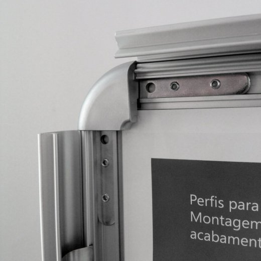 moldura click aluminio abertura frontal troca posters snap frame