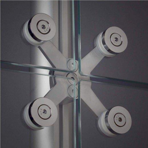 spider fixador fachada montagem stands pele vidro octanorm alumínio